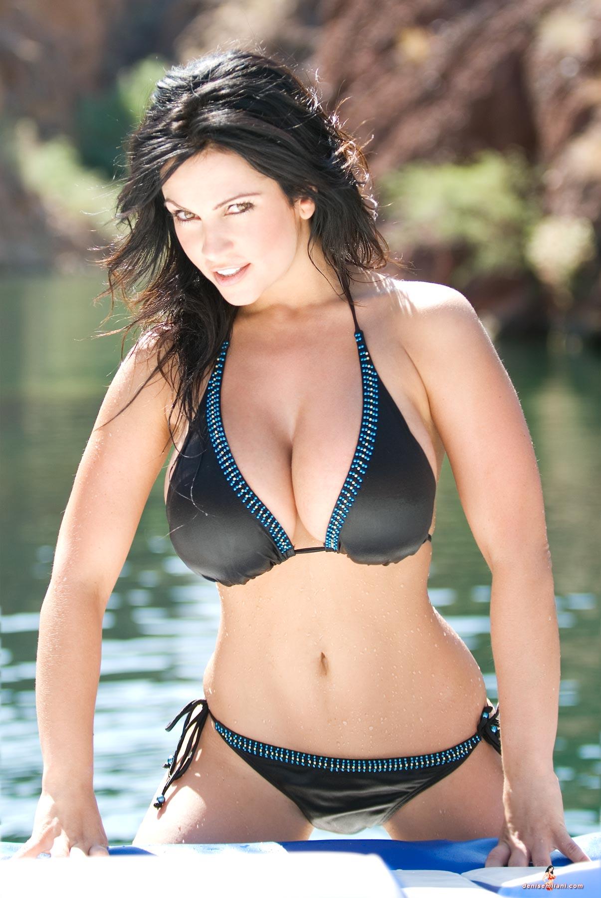 Denise Milani in her tight bikini fishing - NNConnect.com