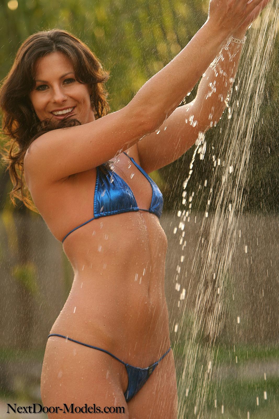 Next Door Models Veronia In A Tiny Blue Thong Bikini - Nnconnectcom-7873