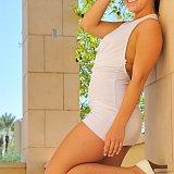 girls ftv Anna white dress lisa